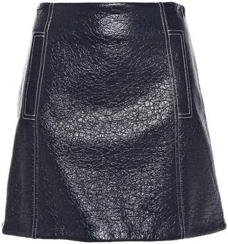 BA&SH Coated Wool-blend Mini Skirt