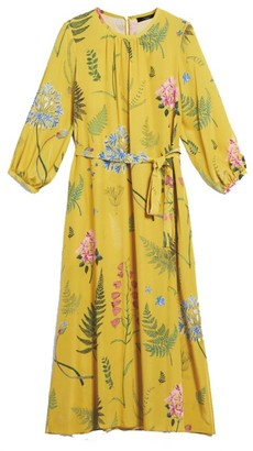 Max Mara Weekend Yellow Medusa Silk Printed Dress - 42 | yellow - Yellow/Yellow