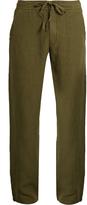 120% Lino 120 LINO Drawstring-waist linen trousers