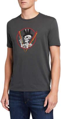 John Varvatos Men's Top Hat Skeleton Graphic T-Shirt