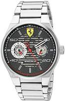 Ferrari Men's 'Speciale' Quartz Stainless Steel Casual Watch, Color:Silver-Toned (Model: 830432)