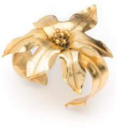 Josie Natori Brass Floral Bracelet