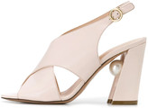Nicholas Kirkwood Miri Cross Sandal in Ultralight Pink