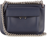 Marni Trunk bi-colour leather cross-body bag