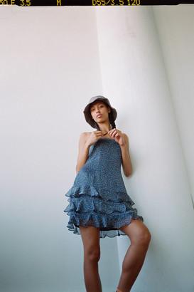 Dress Forum Floral Tiered Ruffle Mini Dress
