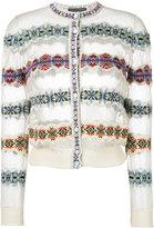 Alexander McQueen jacquard knit cardigan - women - Silk/Polyamide/Spandex/Elastane/Viscose - XS