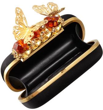 Alexander McQueen Butterfly Knuckle-Duster Box Clutch Bag
