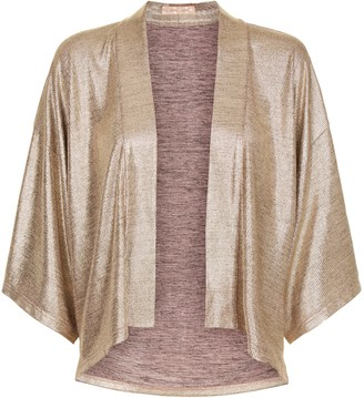 Traffic People Viva Las Vegas Wallfall Shrug Jacket In Gold
