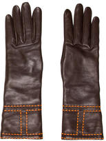 Hermes Embroidered Lambskin Gloves