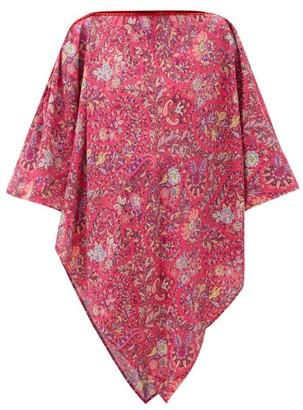 Etro Paisley-print Chiffon Poncho - Pink Multi