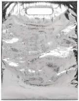 Helmut Lang Silver Freezer Bag Clutch