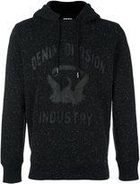 Diesel 'Joe' hoodie - men - Cotton/Sheep Skin/Shearling/Polyester - XL