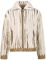 Y / Project - paneled shearling jacket - unisex - Sheep Skin/Shearling/Acetate - S