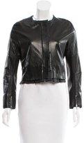 Nina Ricci Leather Long Sleeve Jacket