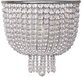 AERIN Jacqueline Medium Sconce - Silver Leaf/Clear