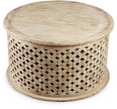 AA Importing Ethan Round Coffee Table, Weathered Sand