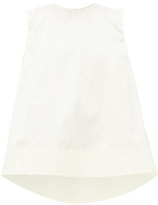 Roksanda Leya Quilted-hem Cotton-poplin Trapeze Blouse - Ivory