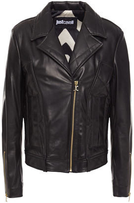 Just Cavalli Leather Biker Jacket