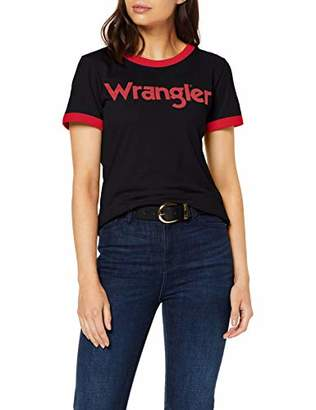 Wrangler Womens Ss Ringer Tee T-Shirt