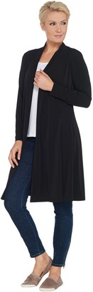 Susan Graver Every Day by Petite Liquid Knit Duster Cardigan