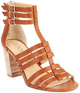 Sole Society As Is Leather Block Heel Sandals - Elise