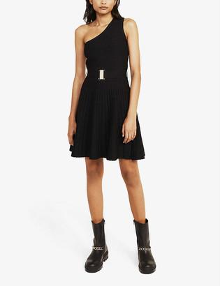 Claudie Pierlot Monica pleated crepe mini dress