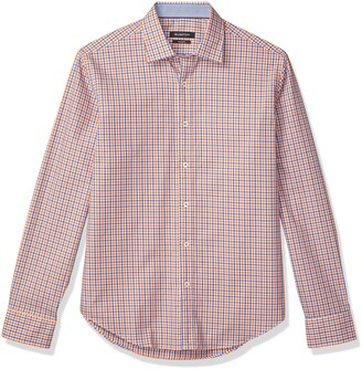 Bugatchi Men's Mini Check Button Down Shirt
