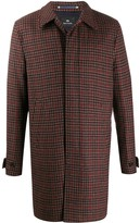 Paul Smith check pattern car coat