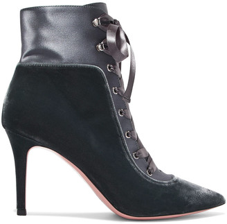 Gianvito Rossi 85 Velvet And Satin Ankle Boots