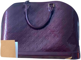 Louis Vuitton Alma Red Patent leather Handbags