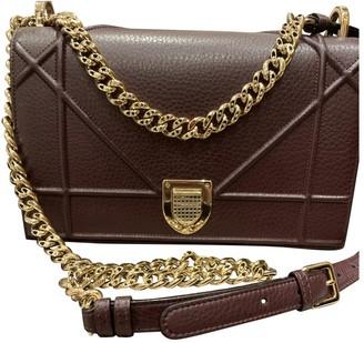 Christian Dior Diorama Burgundy Leather Handbags