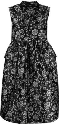 Comme des Garcons Empire-Line Floral-Print Sleeveless Dress