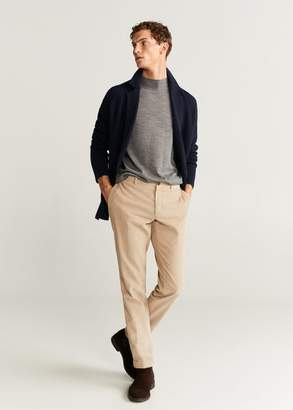 MANGO Double-breasted knit blazer