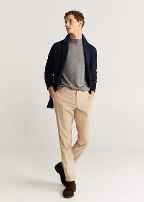MANGO MAN - Double-breasted knit blazer navy - XS - Men