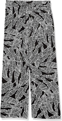 Rafaella Women's Banana Leaf Print Pull-On Fluid Pant
