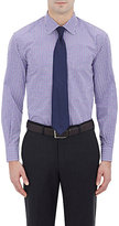 Barneys New York MEN'S CHECKED SHIRT-PURPLE SIZE 16.5 L