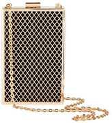 H&M Rigid Clutch Bag - Black/gold-colored - Ladies