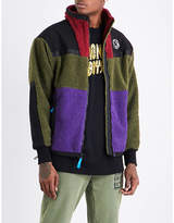Billionaire Boys Club Contrast-panel fleeced jacket