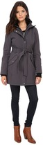 Jessica Simpson Long Zip Front Soft Shell with Belt