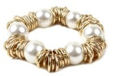Amrita Singh Glass Pearl Stretch Bracelet.