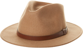 Brixton Messer Fedora Hat Brown