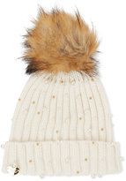 Betsey Johnson Crazy For Pearls Pom-Pom Hat