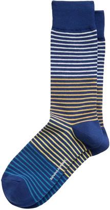 Banana Republic Blocked Feeder Stripe Sock