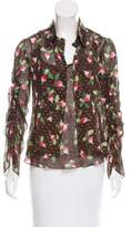 Carolina Herrera Silk Two-Piece Cardigan Set