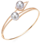 Caged Pearl Pave Bangle