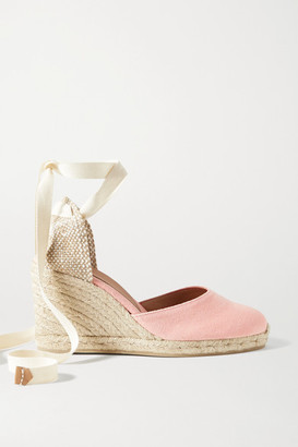 Castaner Net Sustain Carina 80 Canvas Wedge Espadrilles