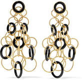 Buccellati Hawaii 18-karat Gold Onyx Earrings