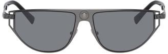 Versace Gunmetal Grecamania Visor Sunglasses