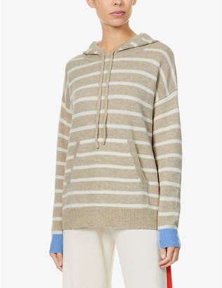 Chinti and Parker Striped cashmere hoody