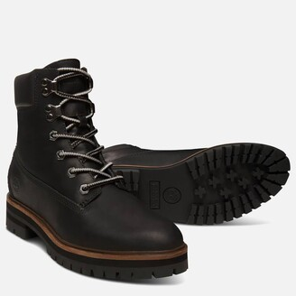 Timberland Women's London Square 6 Inch Leather Lace Up Boots - Jet Black